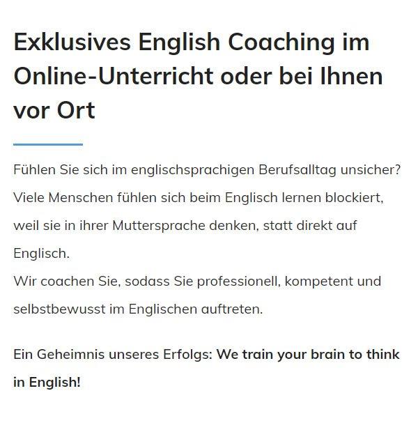 Business Englisch Lernen für  Böblingen