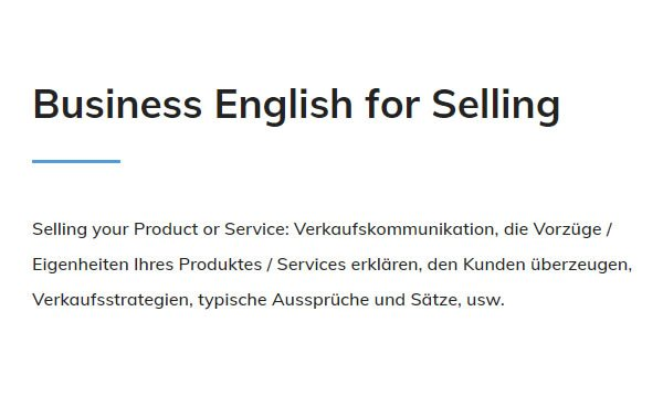 Business English Selling aus 70173 Stuttgart