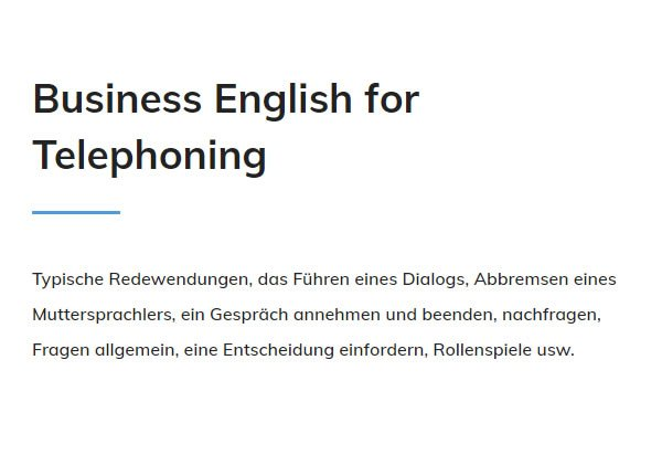 Business English Telephoning für Stuttgart