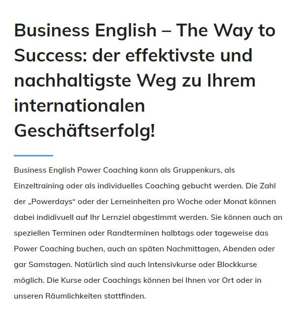 Business English in  Augsburg