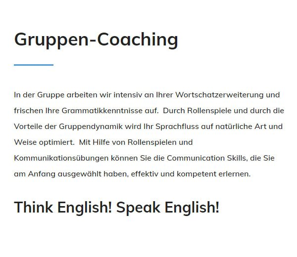 Englisch Gruppen Coaching in  Laupheim