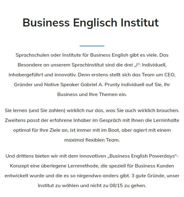 Englisch Institut aus 71032 Böblingen