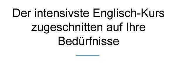 Englisch Intensiv Kurs
