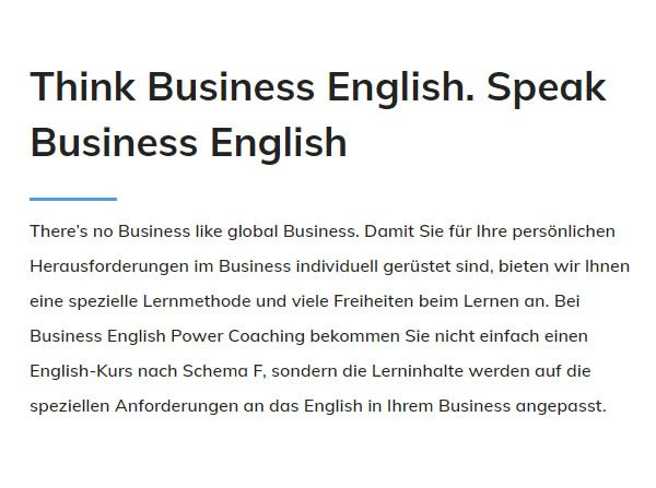 Think Business English für  Tübingen